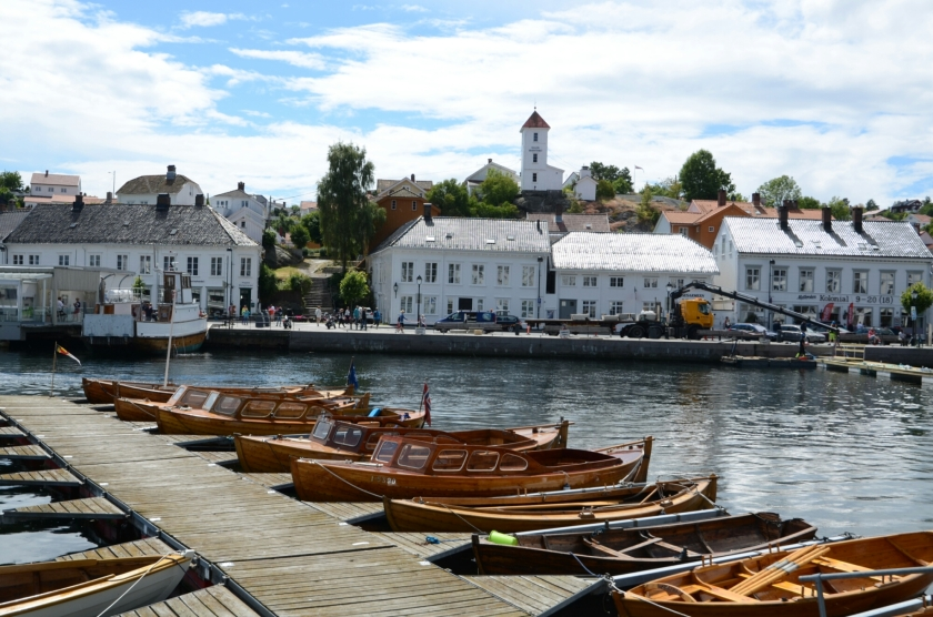 Holzboote in Risør