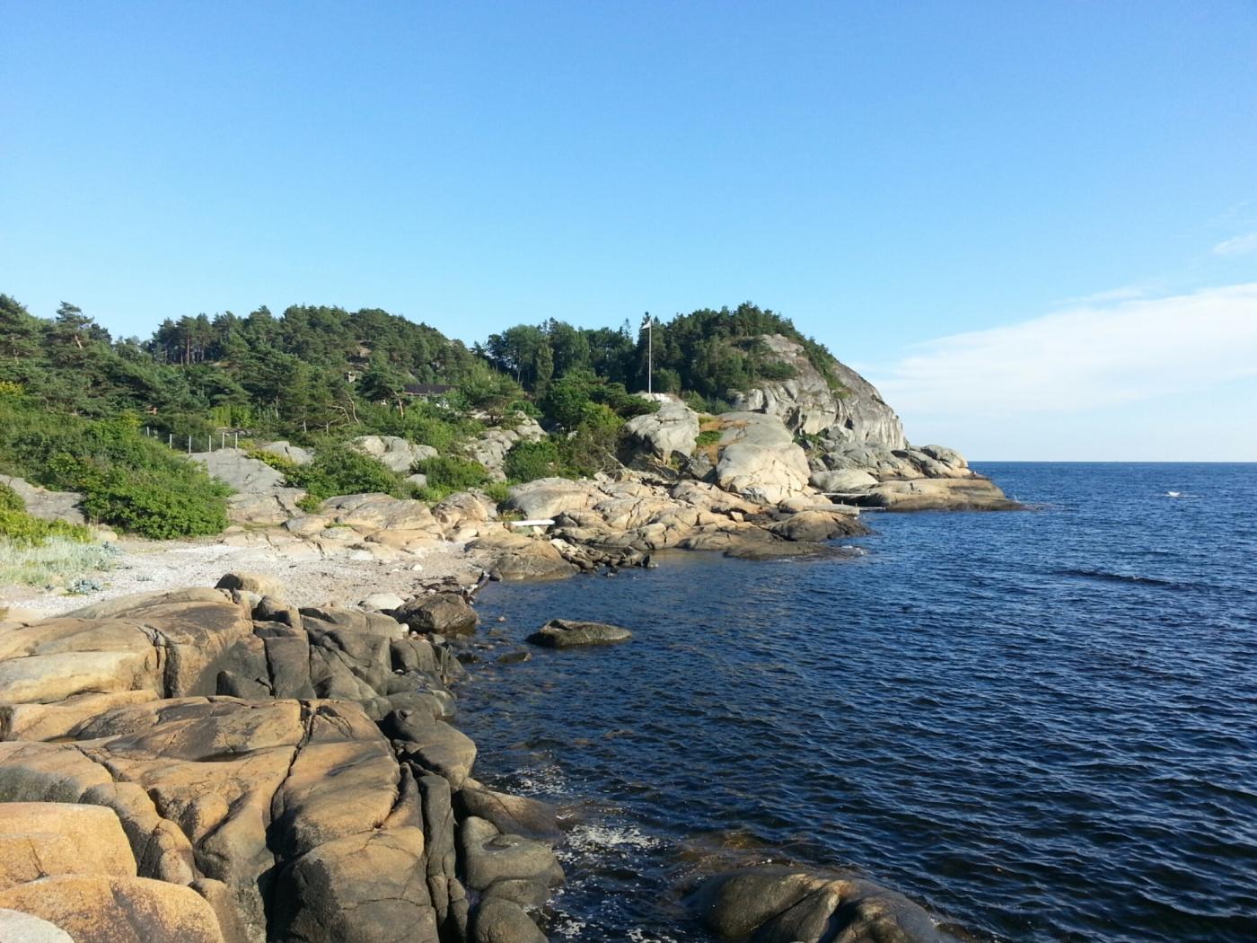 Aussicht auf die Küste bei Larvik (Gon Camping)