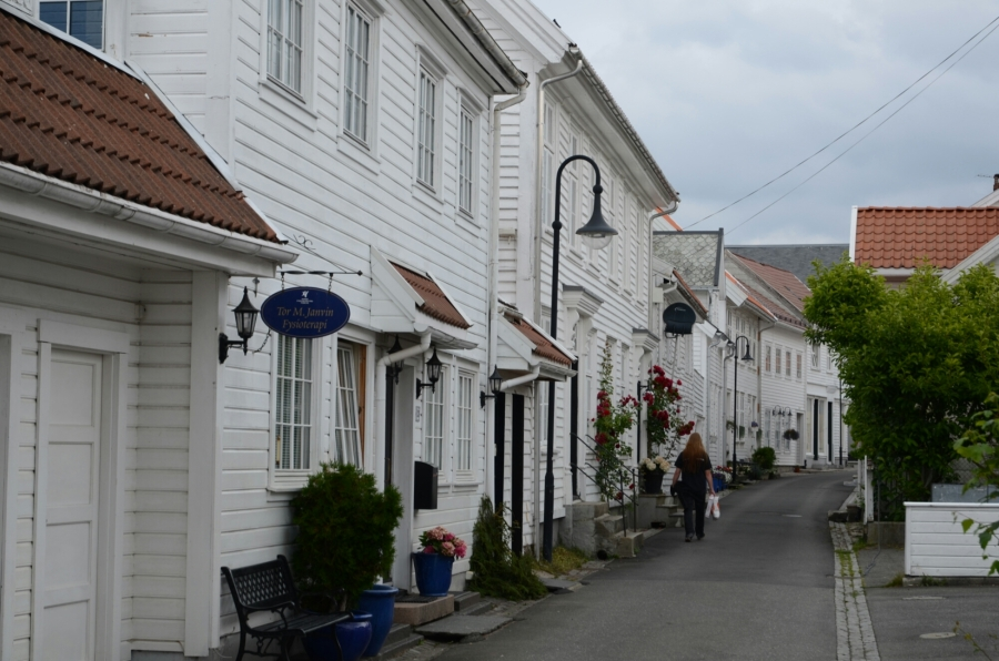 Weisse Häuser in Flekkefjord