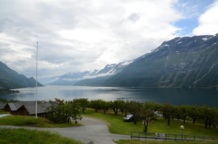 Ausblick bei Lofthus auf den Sørfjord