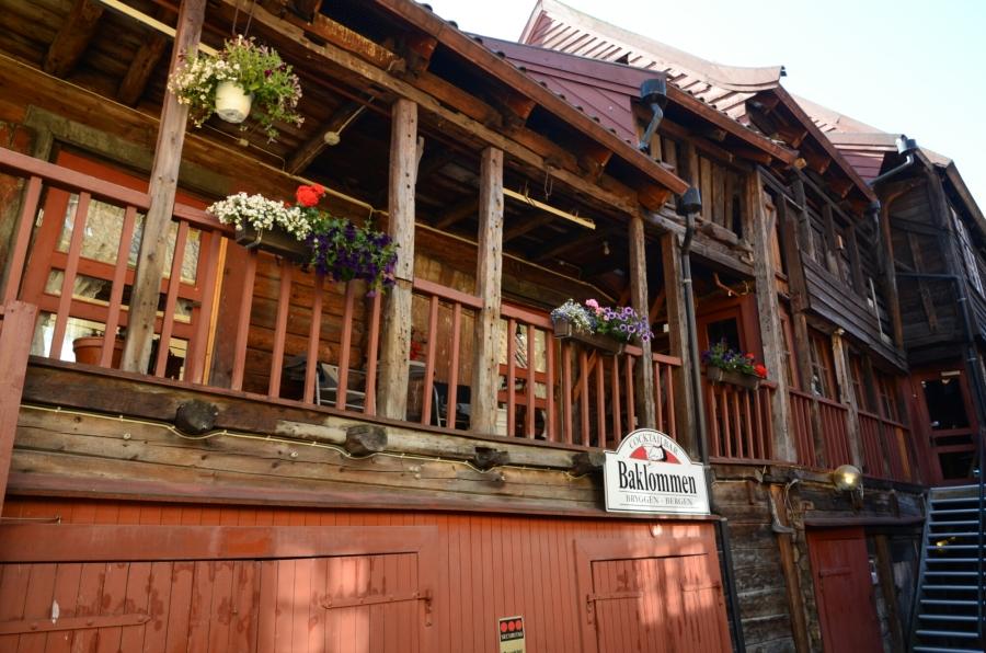 Gang in Bryggen (Hanseviertel von Bergen)