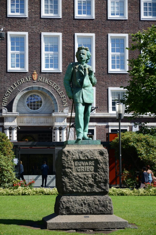 Grieg-Statue in Bergen