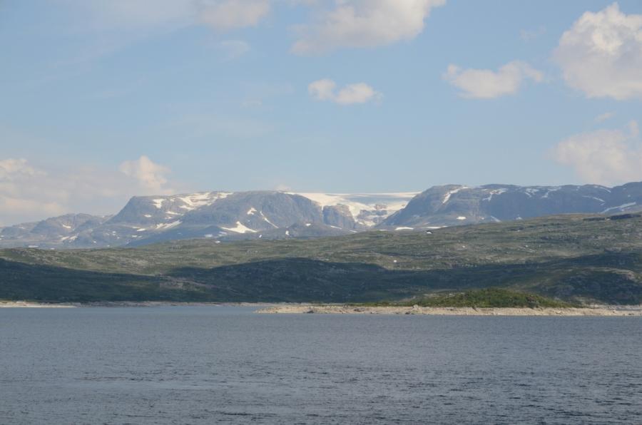 Aussicht auf den Hardangerjøkulen