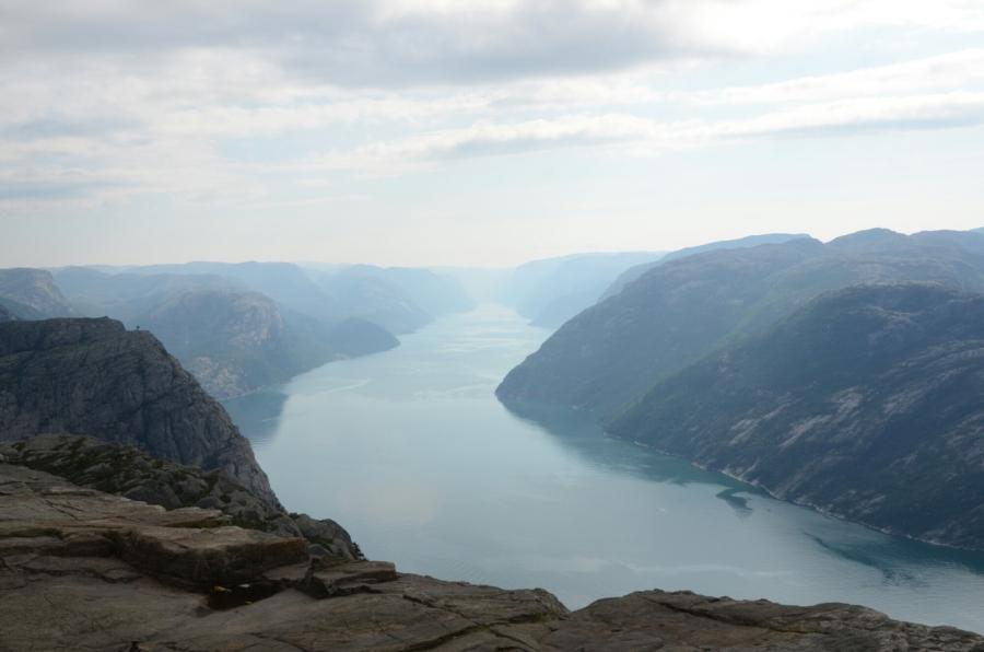 Aussicht vom Preikestolen auf den Lysefjord