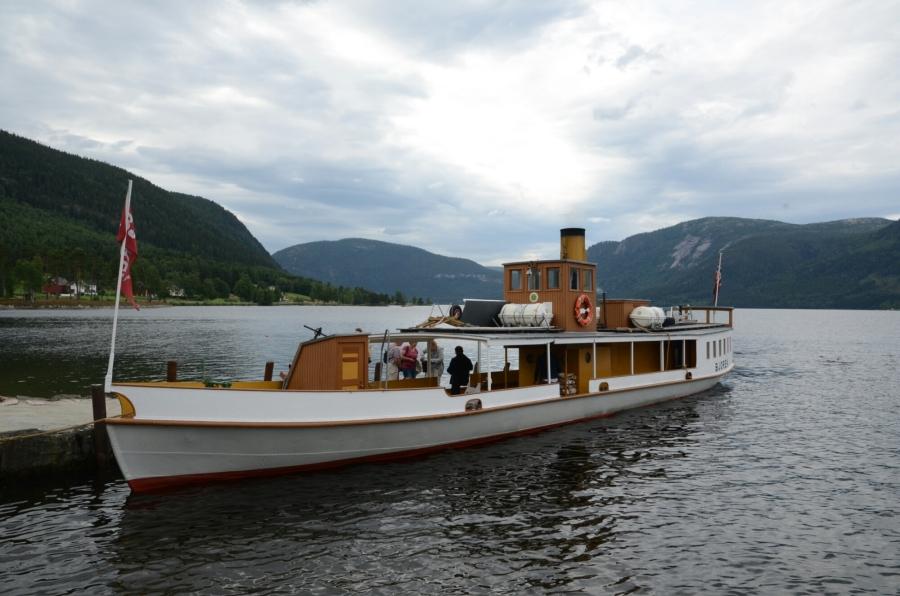 Dampfschiff Bjoren auf dem Byglandsfjord