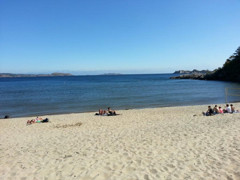 Strand beim Sjøsanden Feriesenter (Mandal)