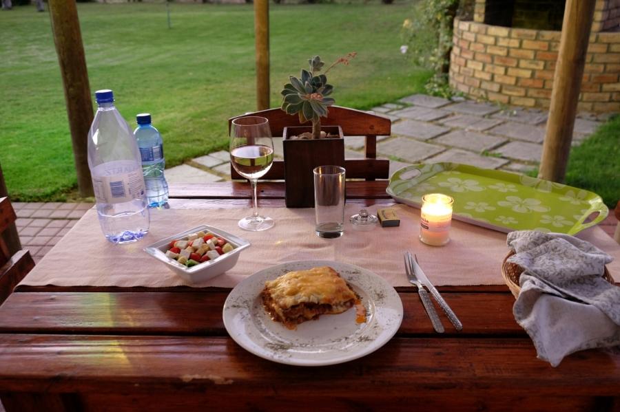 Abendessen in De Old Drift Guest Farm