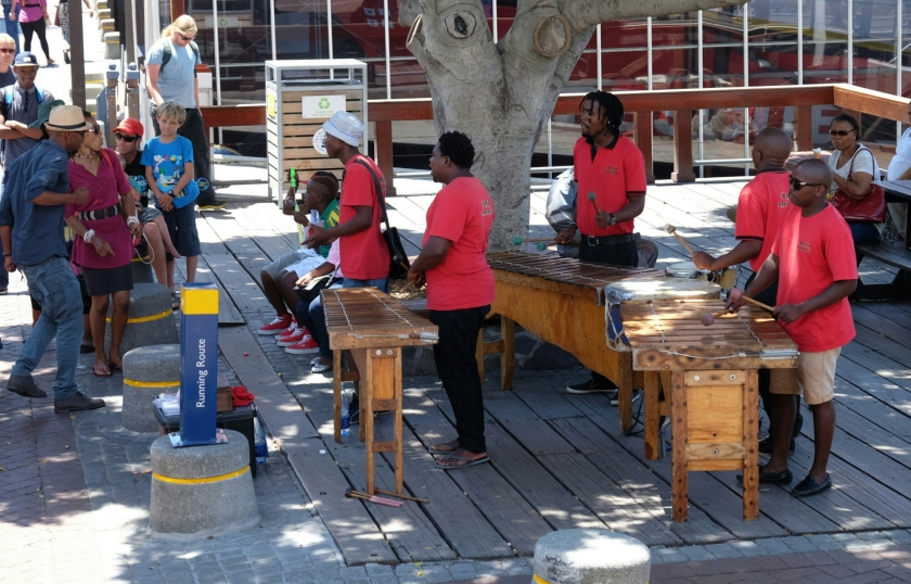 Band in V&A Waterfront in Kapstadt