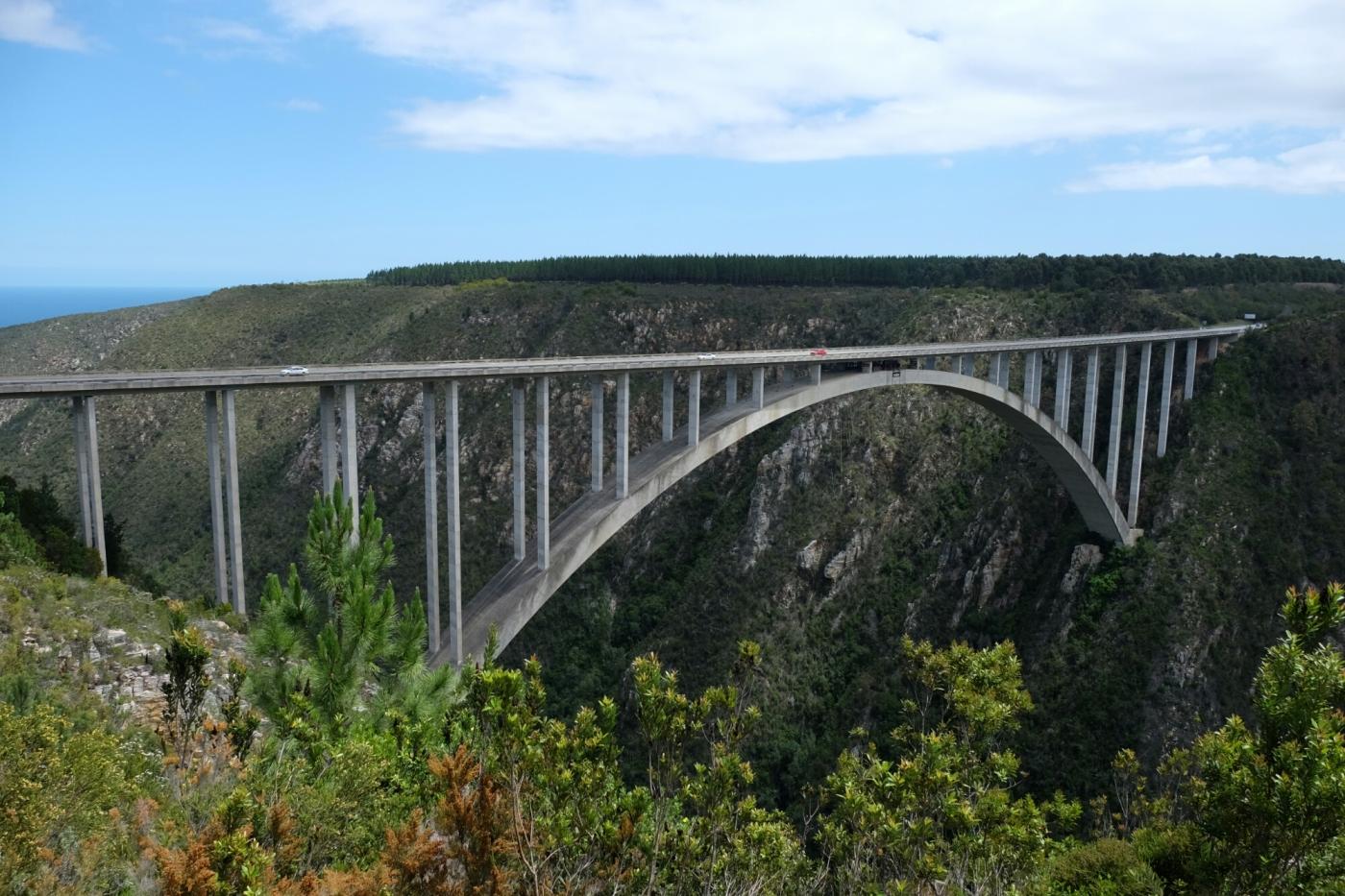 Bungee Jumping auf der Brücke über das Bloukrans River Valley