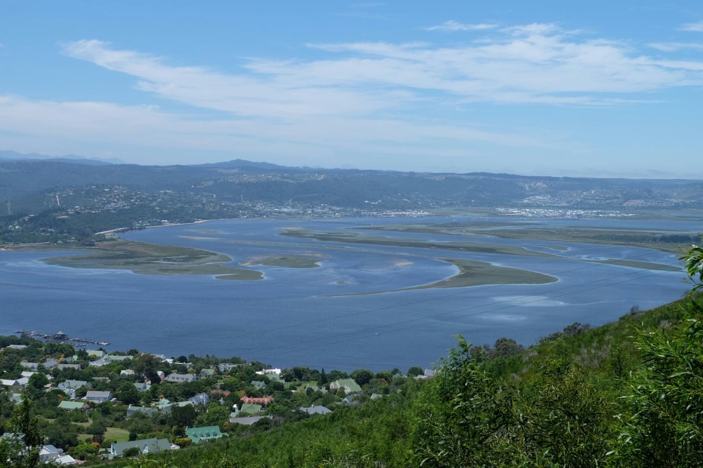 Sicht von Margaret's View Point in die Lagune von Knysna