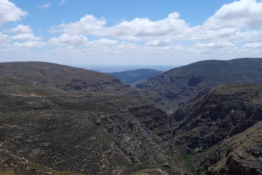 Gebirge beim Swartberg Pass