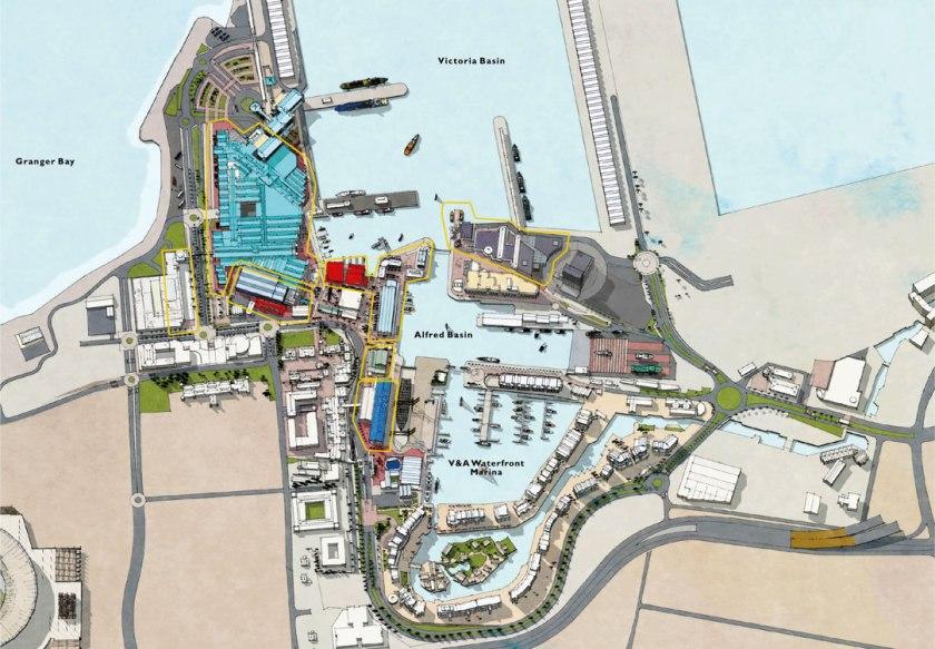 Karte von V&A Waterfront in Kapstadt