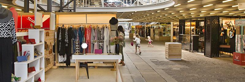 Läden in V&A Waterfront in Kapstadt