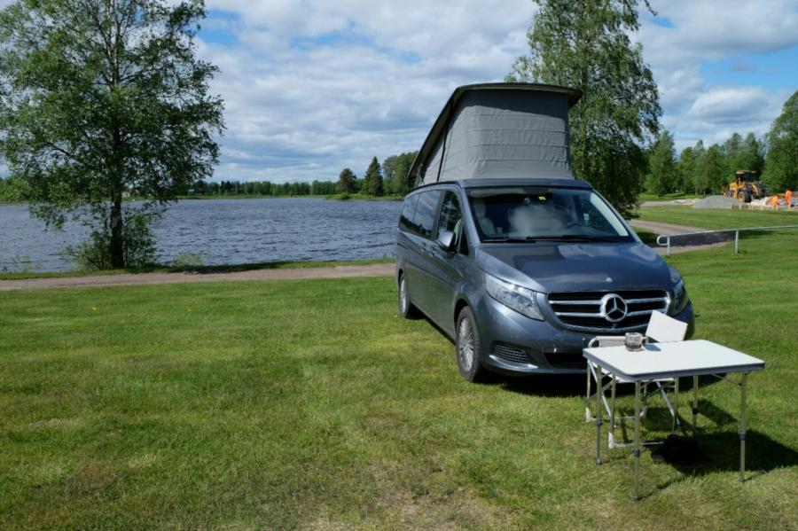 Marco Polo auf dem Campingplatz am Bullsjön (See)