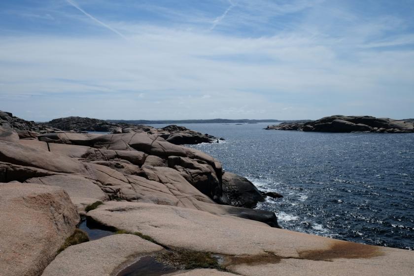 Aussicht im Naturreservat Stångehuvud bei Lysekil
