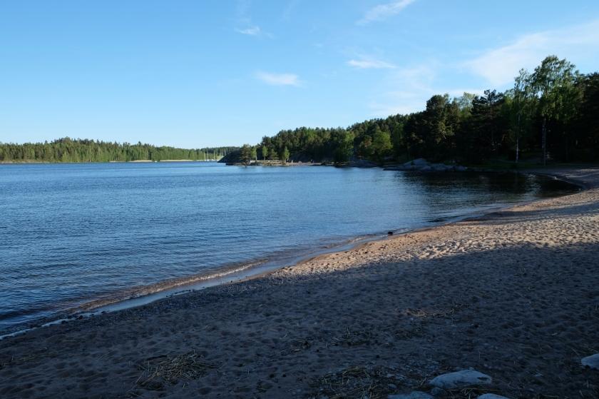 Stimmungsvolles Licht am Örnäs-Strand in Åmål