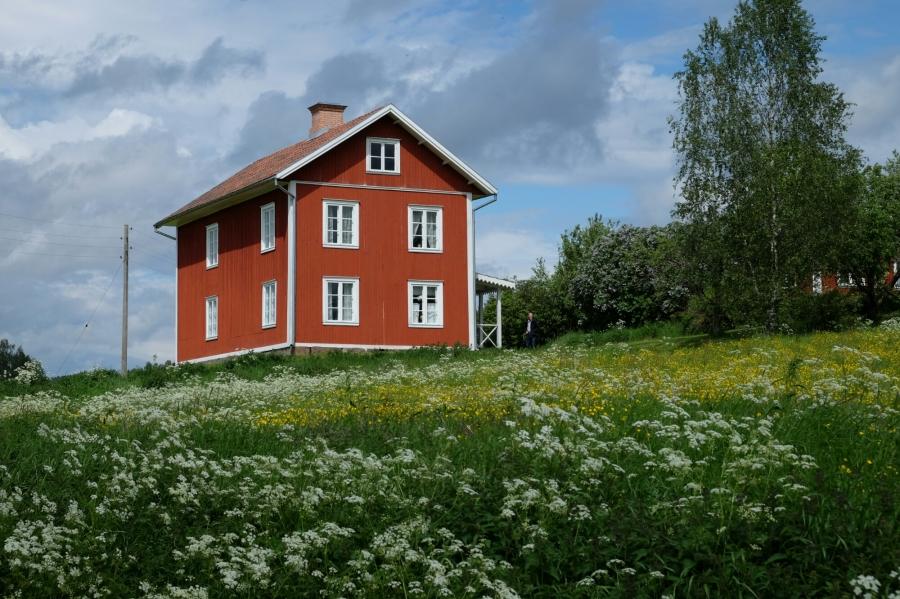 Gebäude des Hofs von Selma Lagerlöf in Mårbacka
