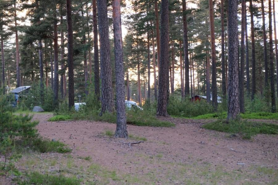 Abendstimmung auf dem Campingplatz von Råda