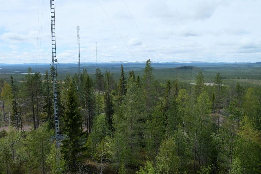 Aussicht vom Aussichtsturm am Mickeltemplet