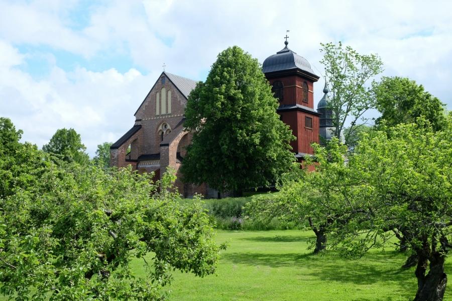 Kirche beim Skokloster Schloss