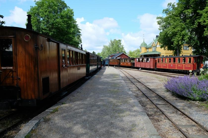 Östra Södermanlands Järnväg (älteste Museumseisenbahn Schwedens) bei Mariefred