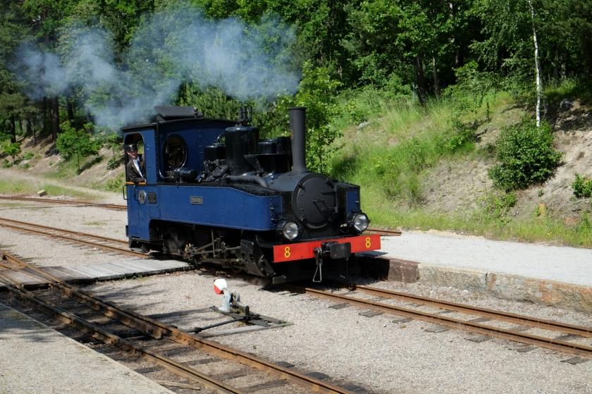 Dampflokomotive der Östra Södermanlands Järnväg (älteste Museumseisenbahn Schwedens)