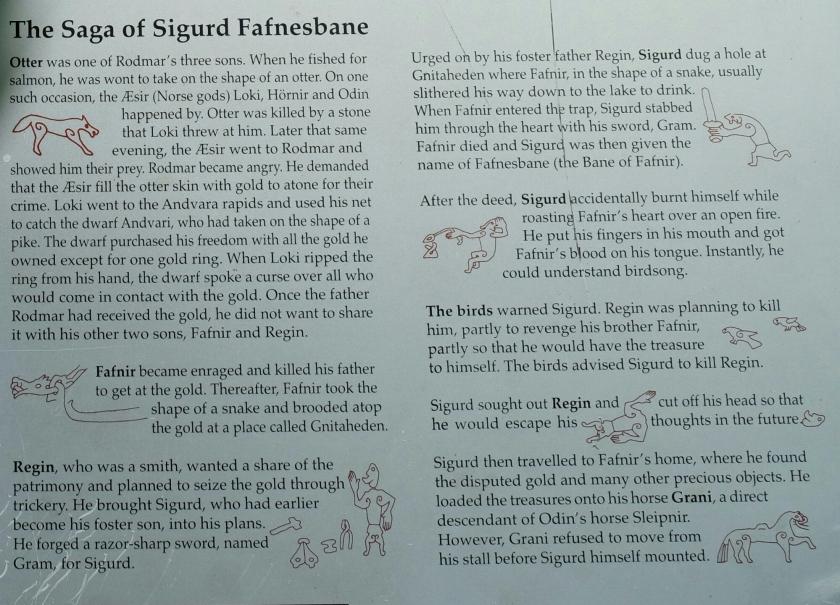 Tafel zur Saga of Sigurd Fanesbane (Sigurdsristing)