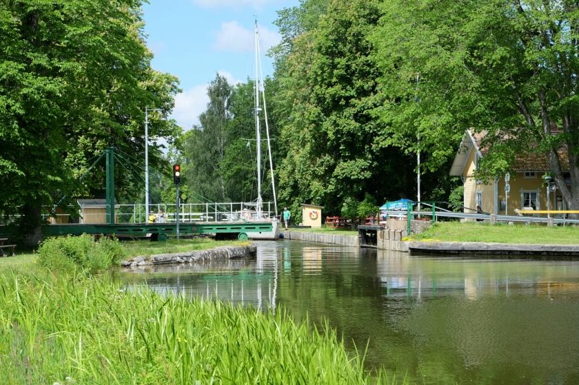 Schleuse am Götakanal zwischen Töreboda und Lyrestad
