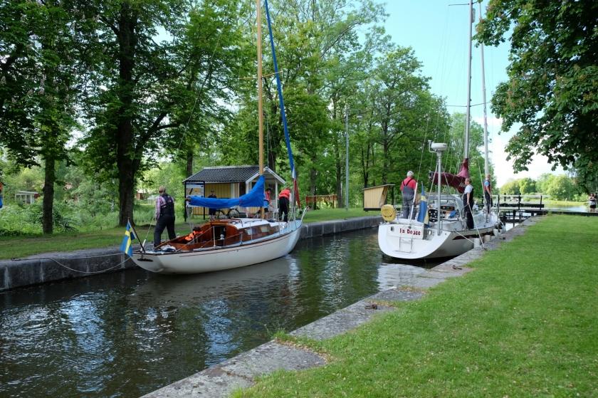 Schleusen am Götakanal zwischen Töreboda und Lyrestad