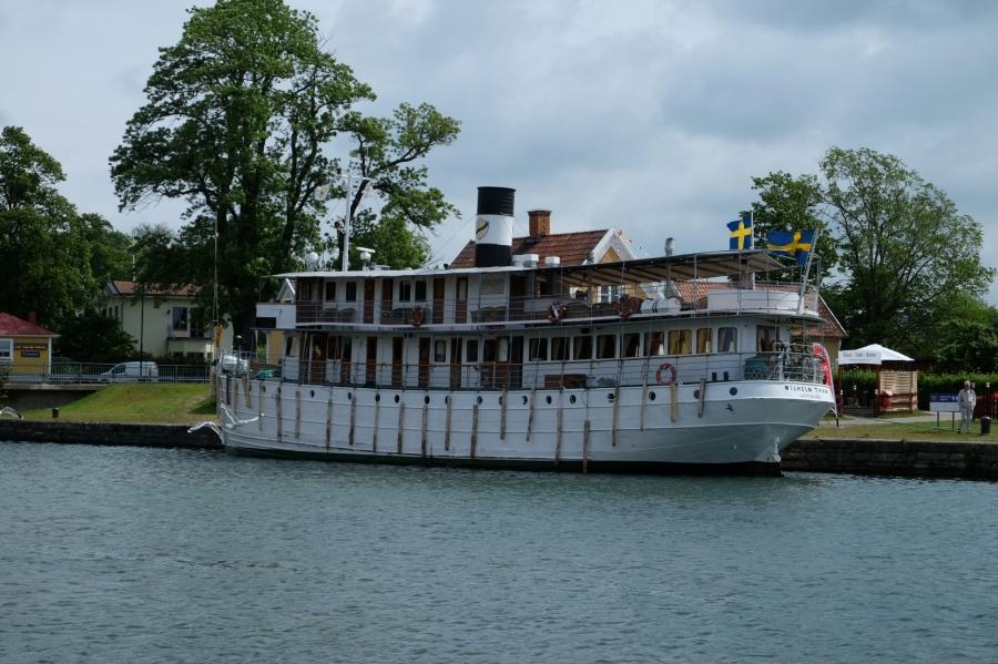 Götakanalschiff Wilhelm Tham in Motala