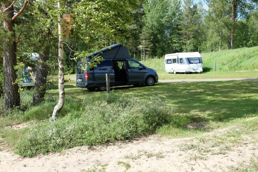 Marco Polo auf dem Campingplatz am Flaten (See)