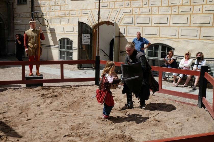 Ritterspiele im Schloss von Kalmar