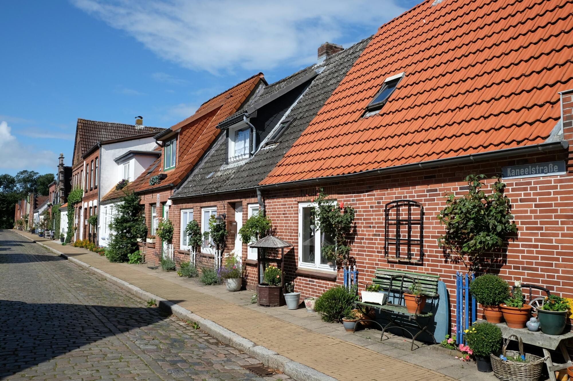 Häuserzeile in Friedrichstadt