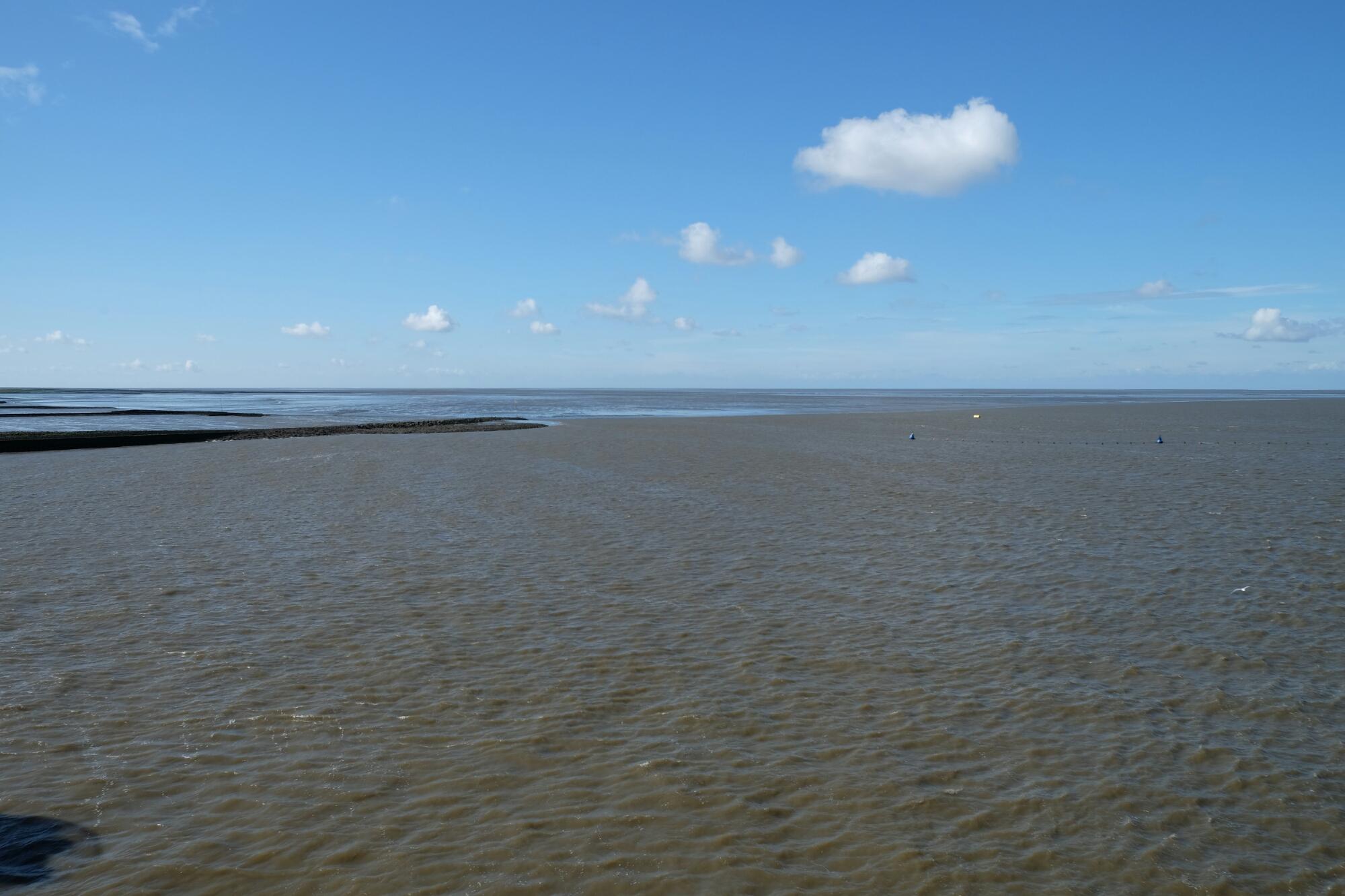 Nordsee beim Eidersperrwerk