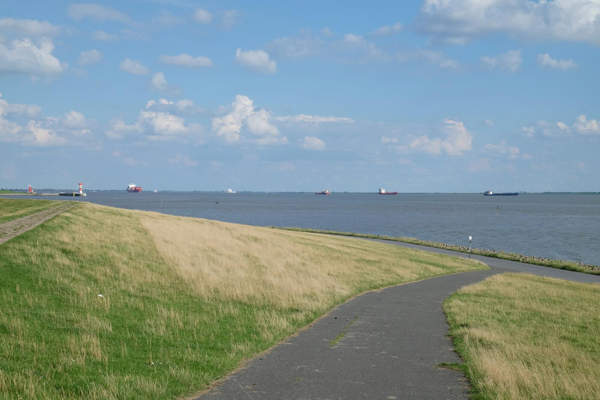 Pötte kucken an der Elbe bei Brunsbüttel