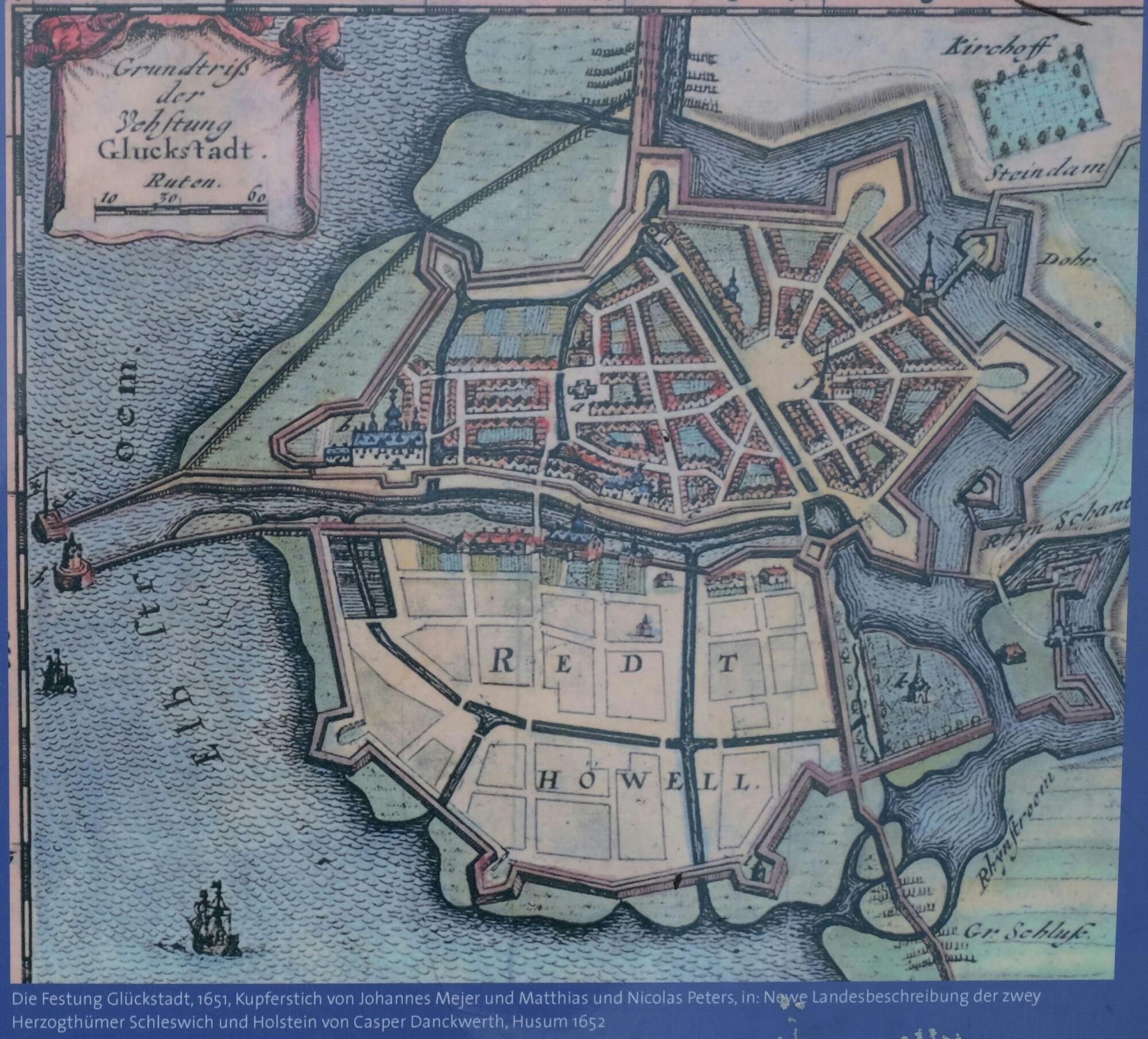 Historischer Stadtplan von Glückstadt