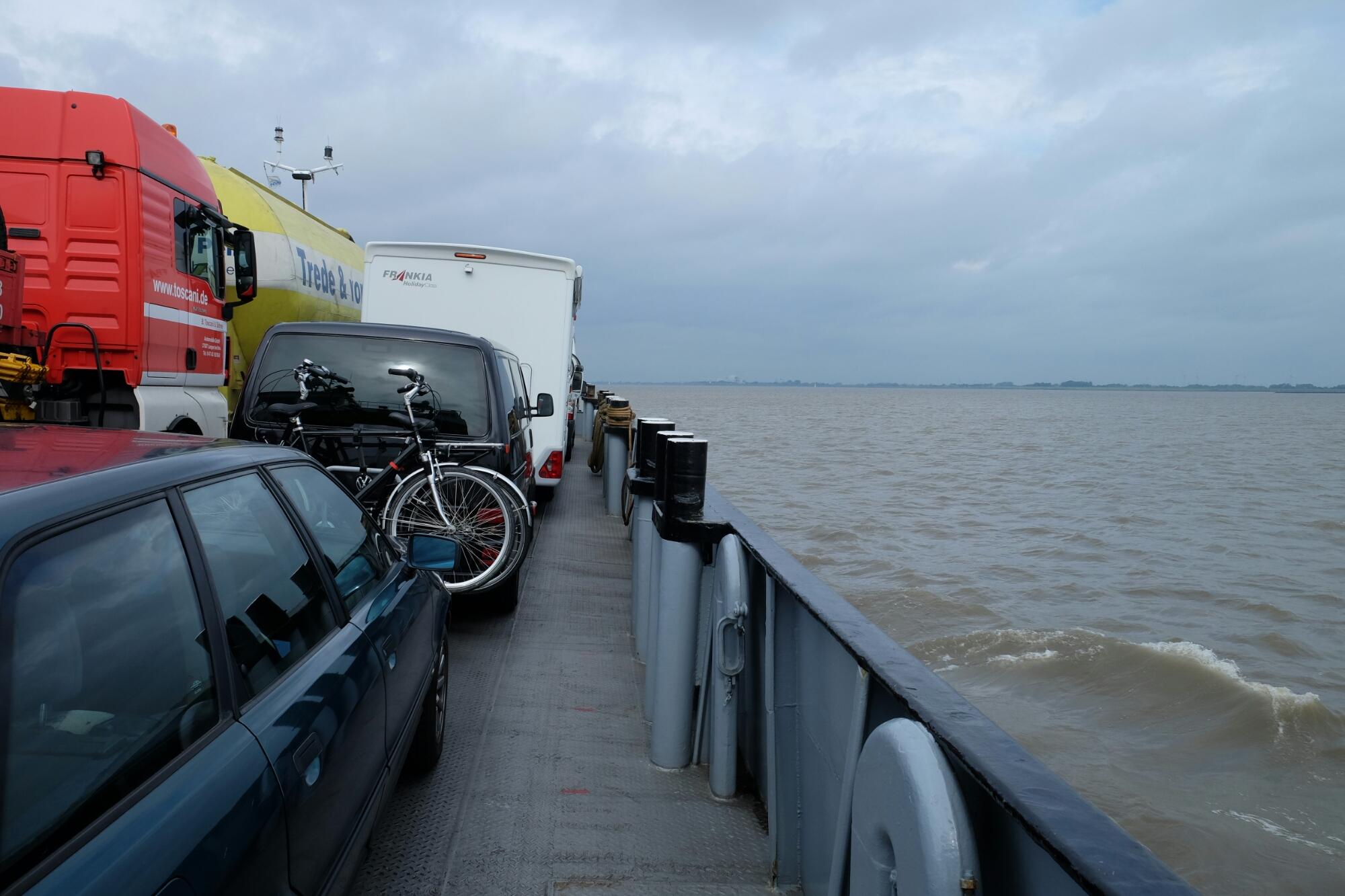 Fähre über die Elbe von Glückstadt nach Wischhafen