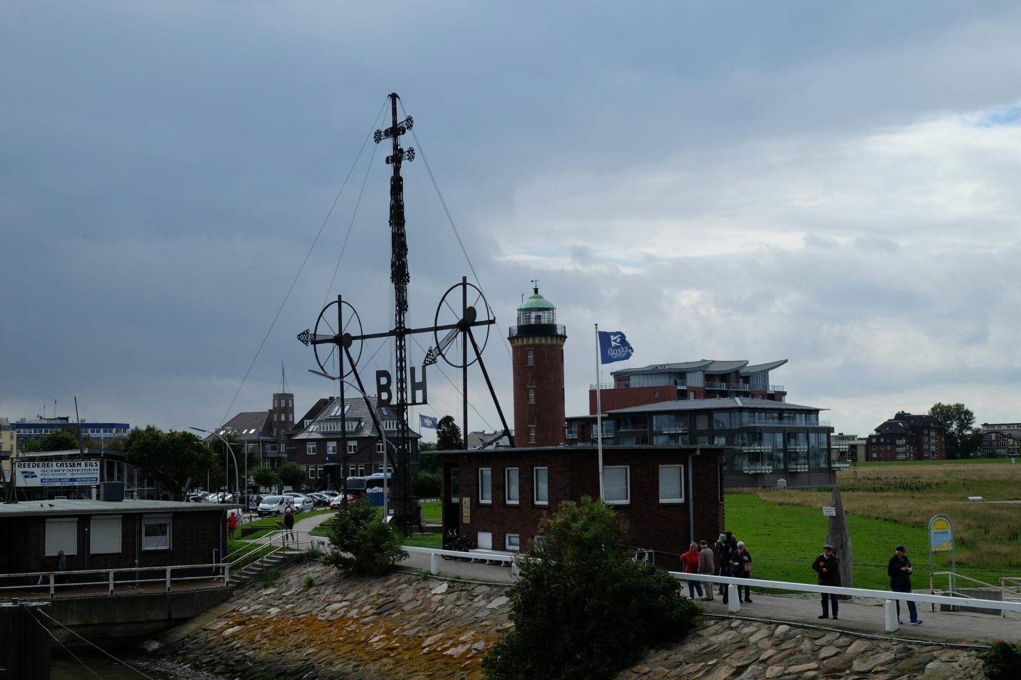 Semaphor bei der Alten Liebe von Cuxhaven