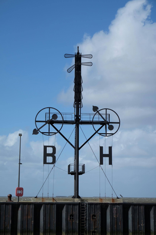 Semaphor an der Hafenmeile von Bremerhaven