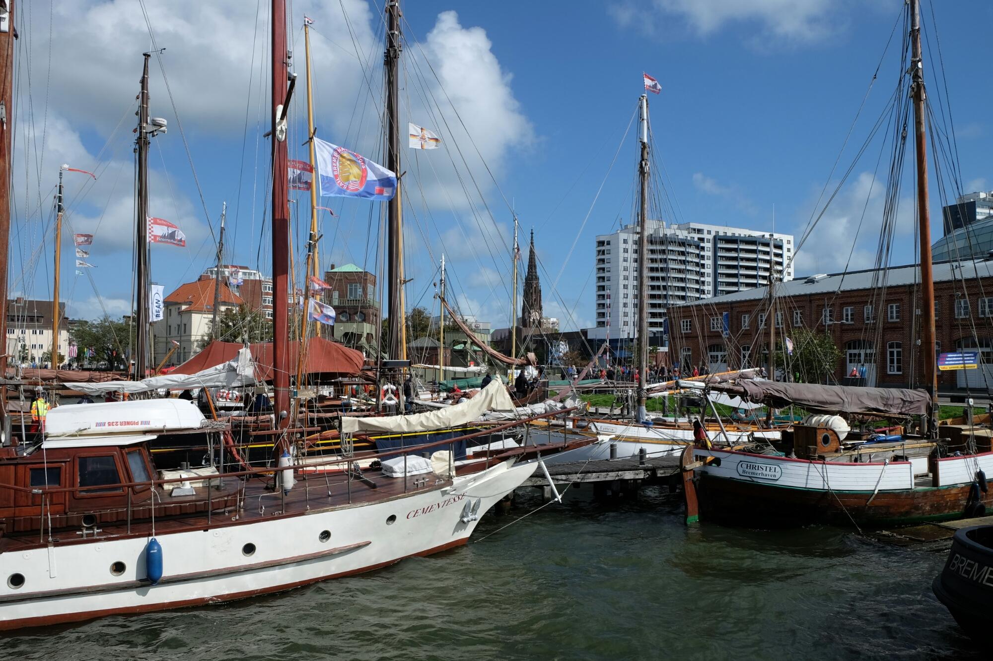 Museumshafen an der Hafenmeile von Bremerhaven