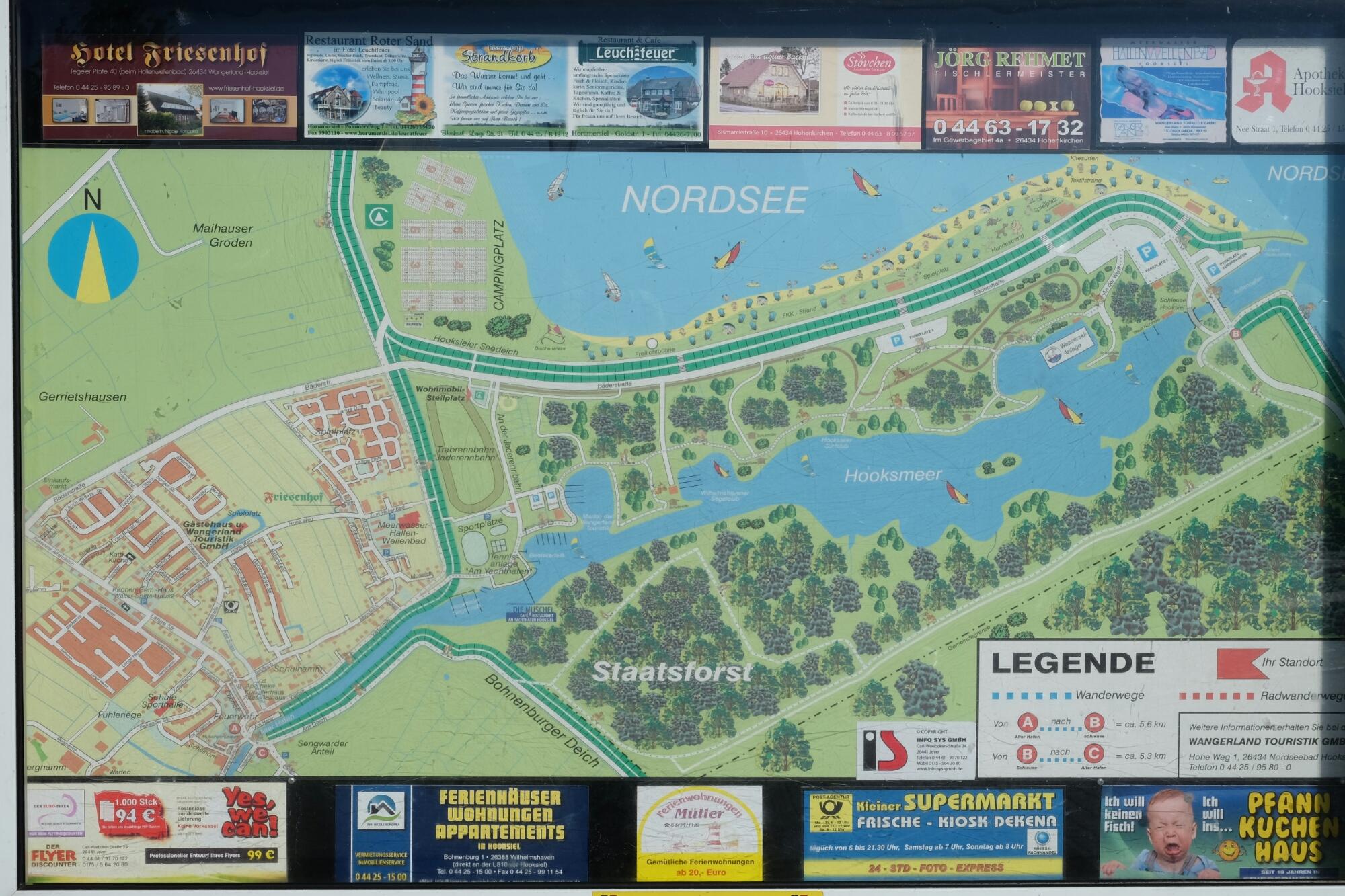 Karte von Hooksiel und Hooksmeer (Wangerland)