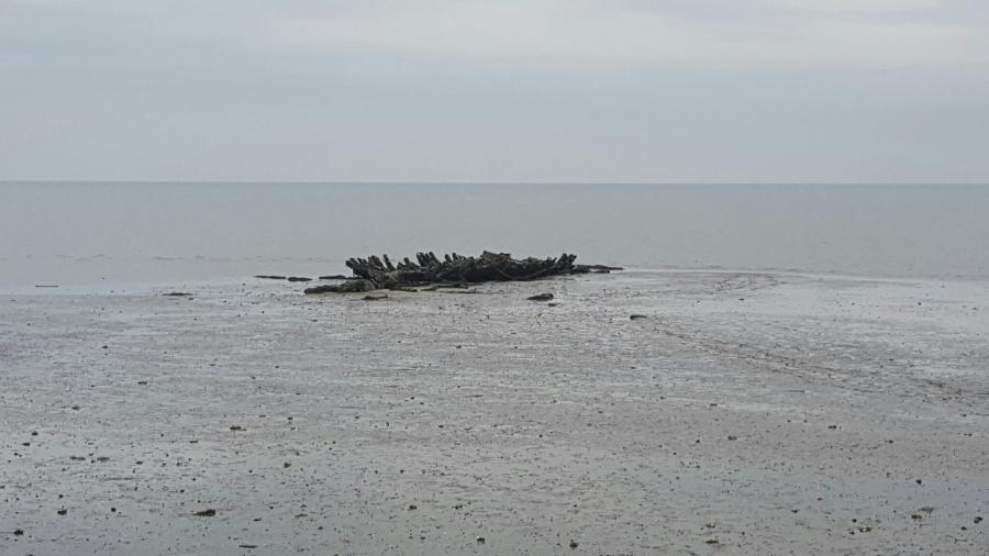 Schiffswrack vor dem Weissen Kliff