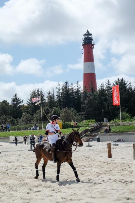 Einreiten beim Beach Polo in Hörnum