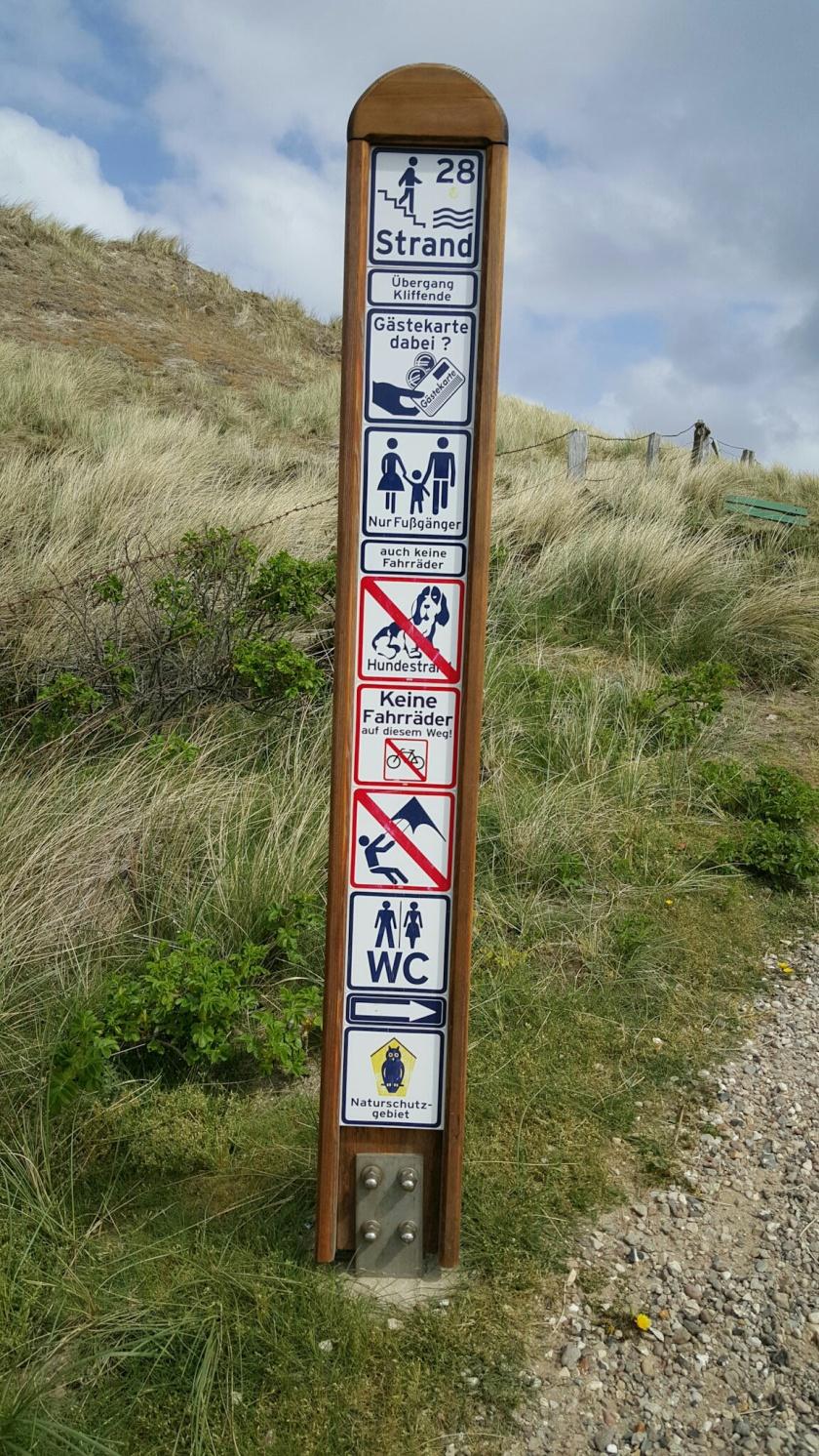 Regeln am Kampener Strand