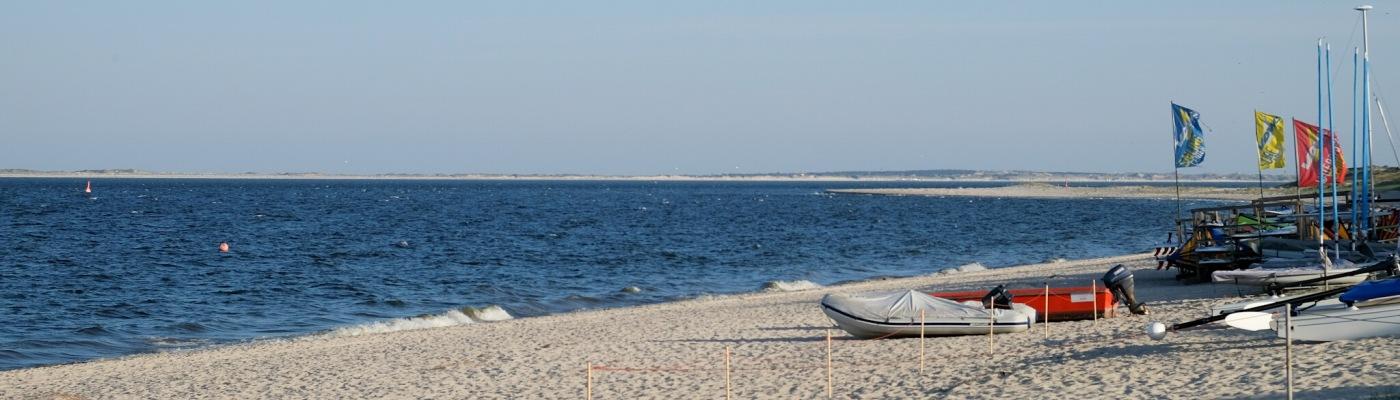 Aussicht vom Hörnumer Strand zur Insel Amrum