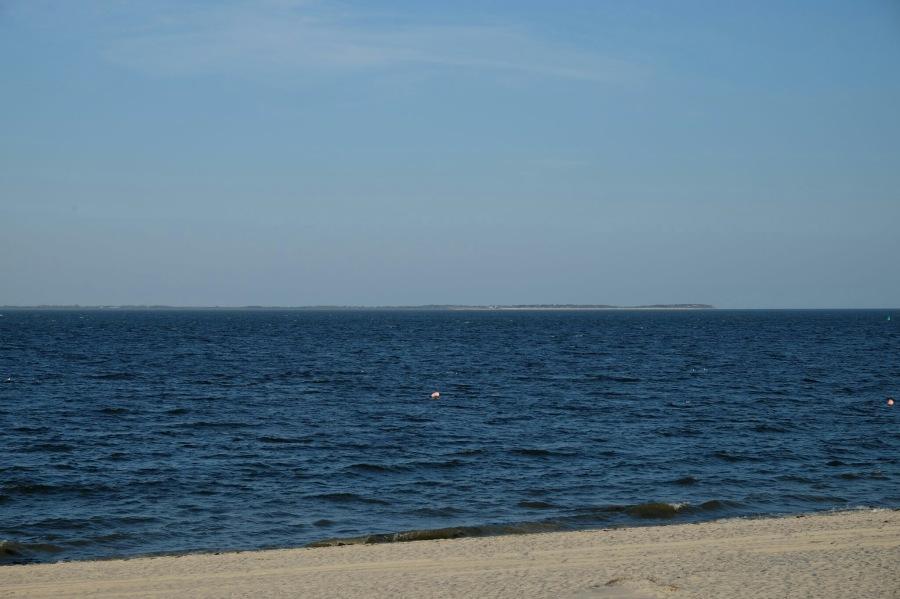 Aussicht vom Hörnumer Strand zur Insel Föhr
