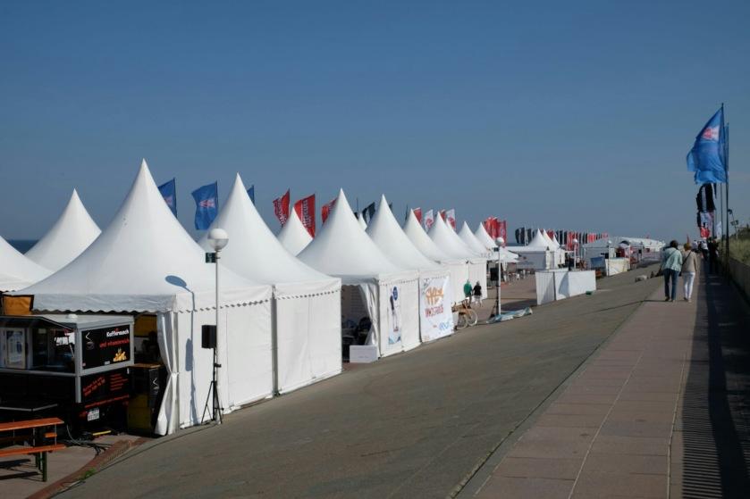 Verstellte Strandpromenade von Westerland