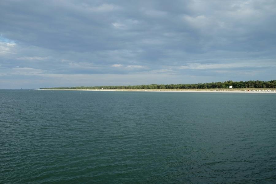 Blick auf Küste bei Prerower Seebrücke