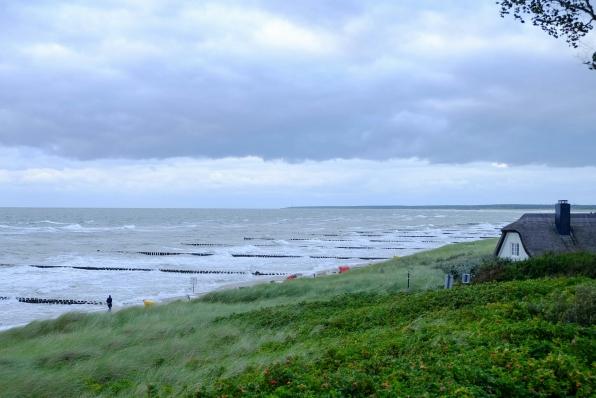 Stürmisches Wetter an Ahrenshooper Küste