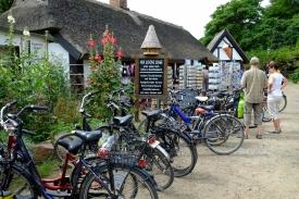 Fahrräder im Heringsdorf Vitt